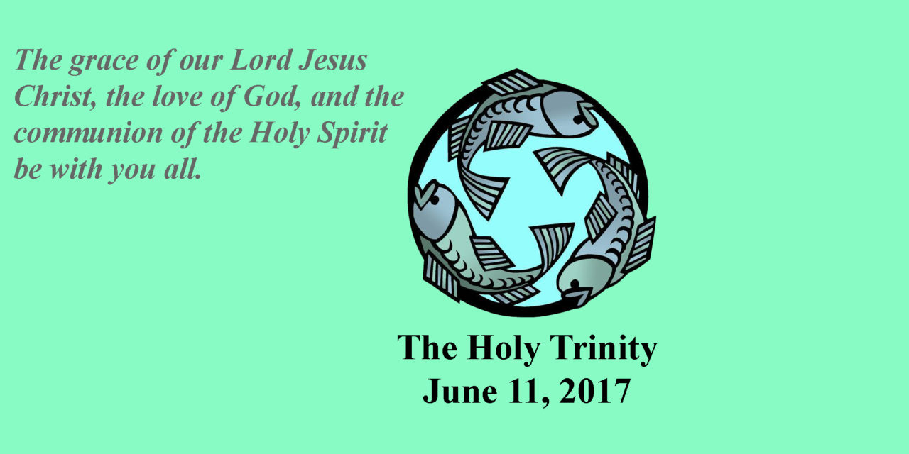 Sunday, June 11, 2017 The Holy Trinity