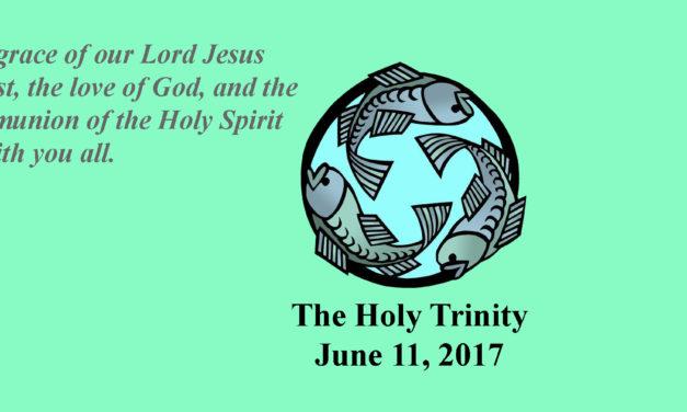 Sunday, June 11, 2017 The Holy Trinity
