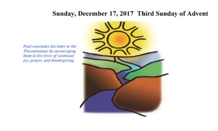 Sunday, December 17, 2017 THIRD SUNDAY OF ADVENT